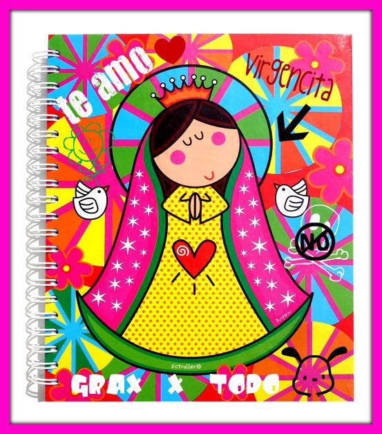 Imágenes de la Virgen de Guadalupe caricaturizadas