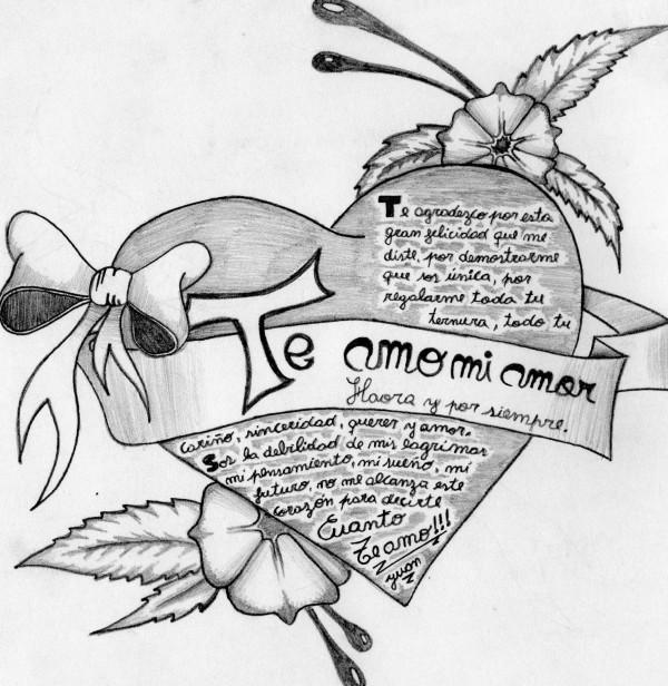 Dibujos Hechos a lpiz con Frases de Amor  Informacin imgenes