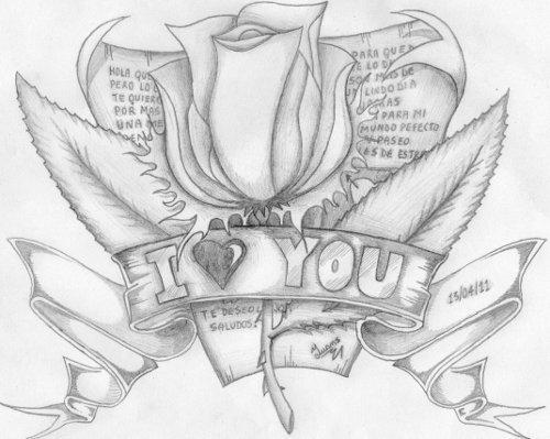 Dibujos Hechos a lápiz con Frases de Amor – Información imágenes