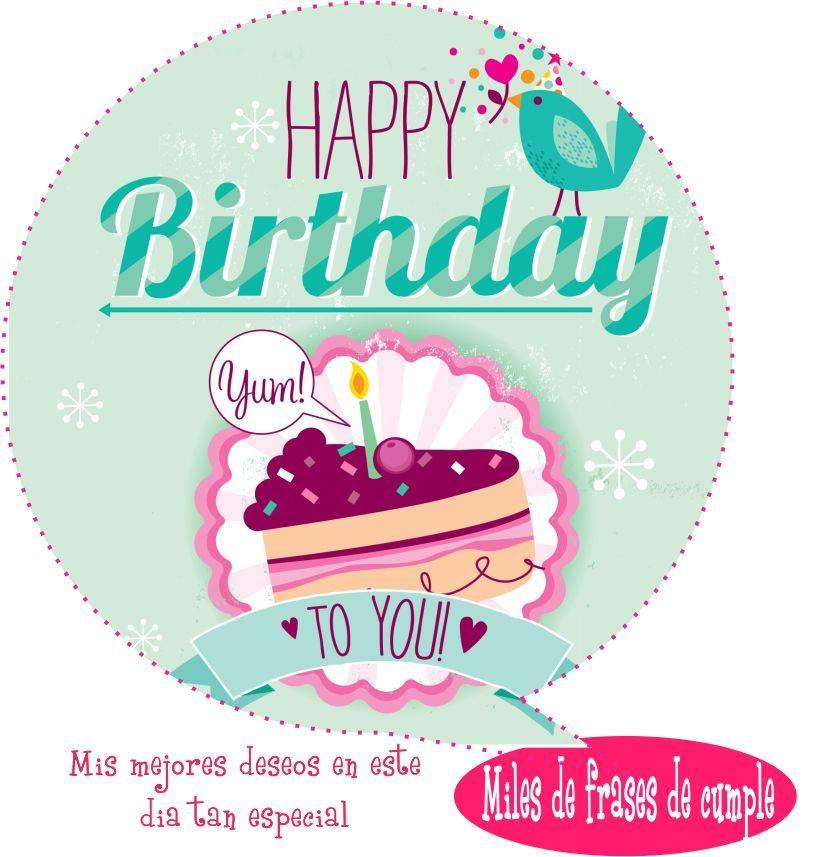 Lindas Imagenes de Cumpleaños con Frases para un Amigo
