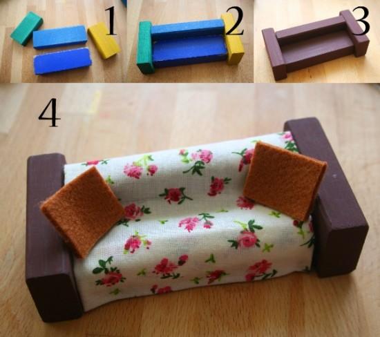 Im genes de juguetes reciclados para ni os hechos a mano - Muebles de juguete en madera ...