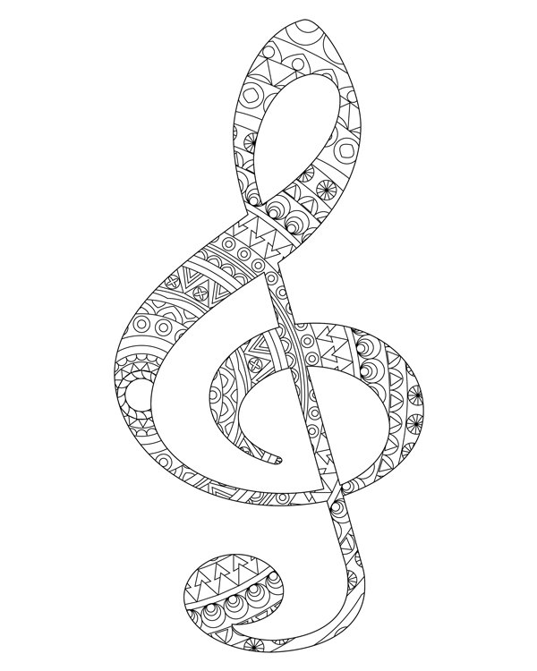 advanced music coloring pages - photo#34