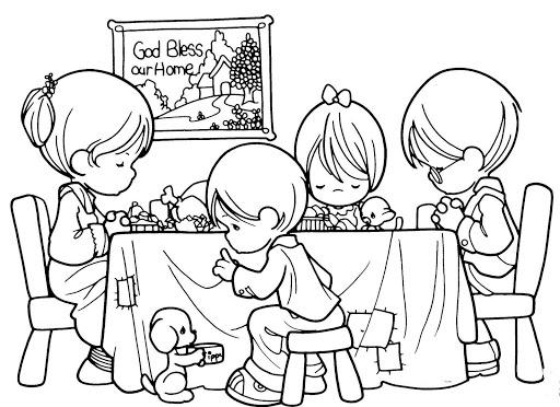 Dibujos infantiles del Da de la Familia para colorear