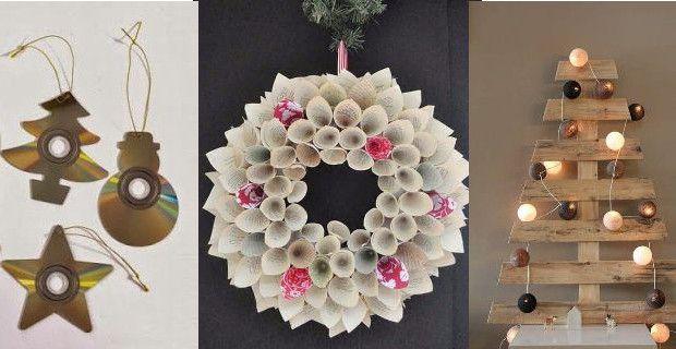 Im genes para hacer adornos con reciclaje para la casa muy for Adornos navidenos para exteriores