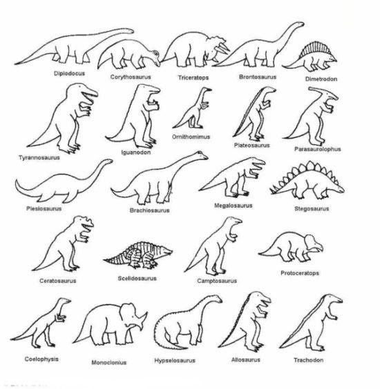 Dinosaurios para colorear dibujos (3)