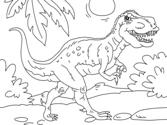 Dinosaurios para colorear dibujos (7)