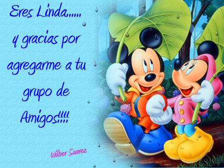 Imgenes de Mickey Mouse y Minnie con frases o para colorear