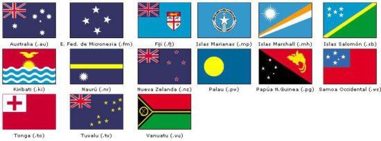 banderas de oceania