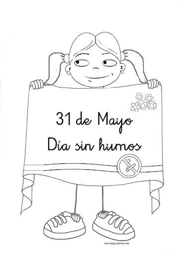 dibujos dia sin tabaco para niños (1)