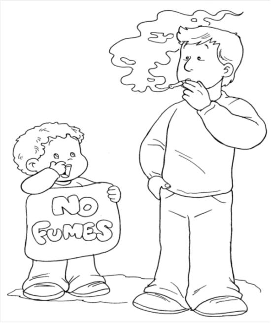 dibujos dia sin tabaco para niños (2)