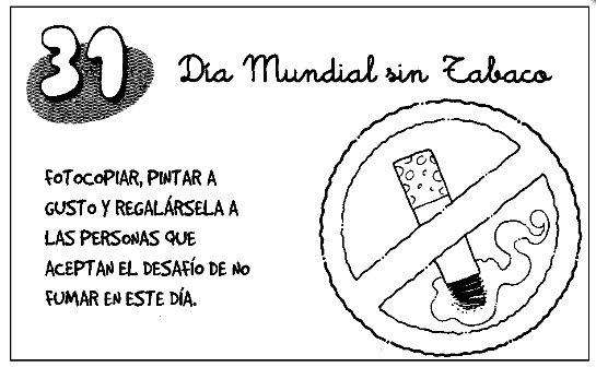 dibujos dia sin tabaco para niños (8)