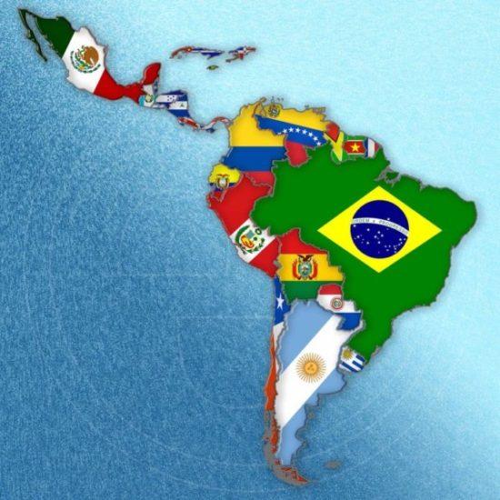 mapa america paises