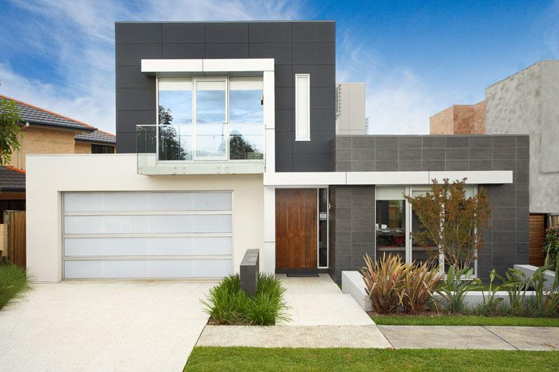 fachadas de casas bonitas modernas de dos pisos simples On pisos para fachadas casas
