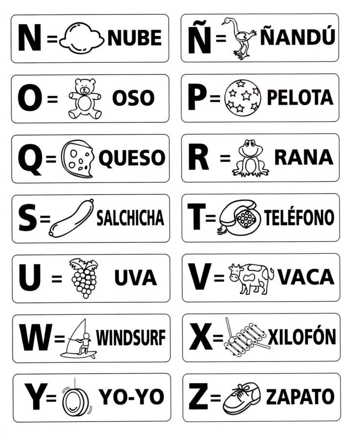 Im genes del abecedario letras dibujos fotos para - Laminas para la pared ...