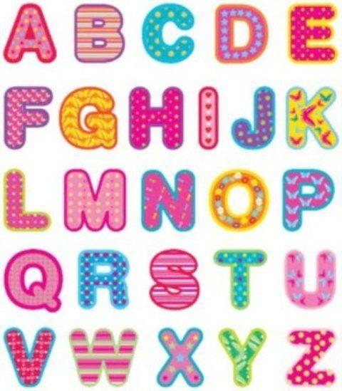 Im genes del abecedario letras dibujos fotos para - Letras decorativas para ninos ...