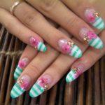 Diseños de uñas largas decoradas para manos – mejores imágenes Nail Art