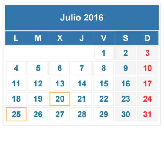Calendario 2016 de Julio - descargar - imprimir (24)