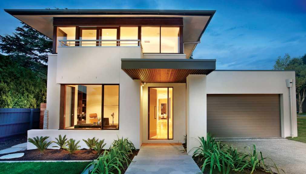 Fachadas de casas bonitas modernas de dos pisos simples for Fachadas minimalistas fotos