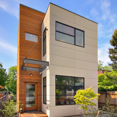 Fachadas de casas bonitas modernas de dos pisos simples for Fachadas modernas para departamentos