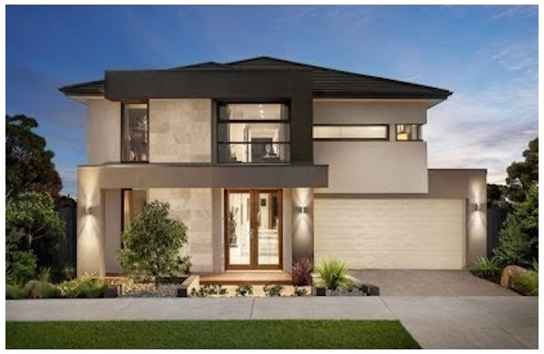 Fachadas de casas bonitas modernas de dos pisos simples for Fachadas modernas para casas de dos pisos