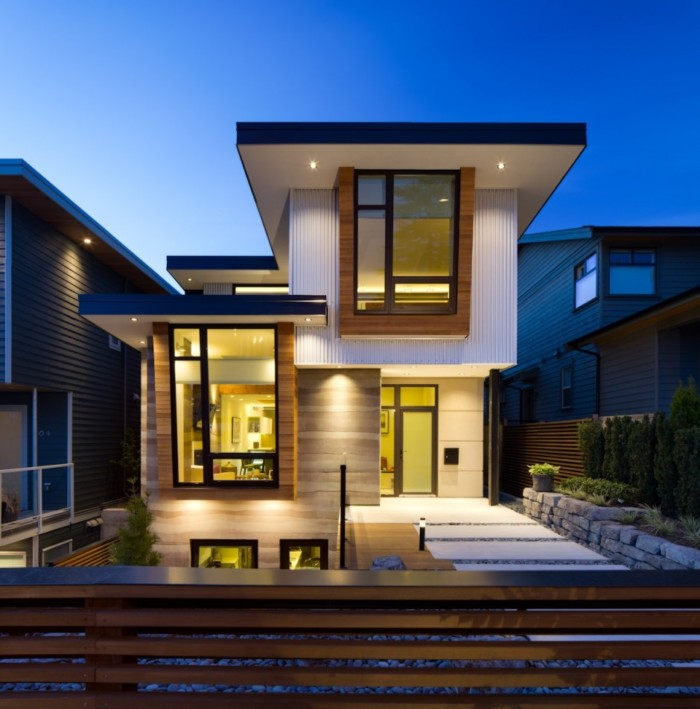 Fachadas de casas bonitas modernas de dos pisos simples for Imagenes casas modernas