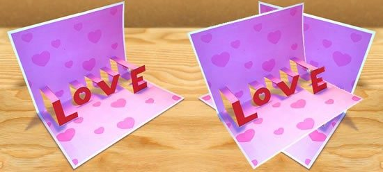 tarjetas de amor 3D - Pop up (10)