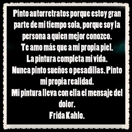 Frases y poemas de Frida Kahlo  (6)