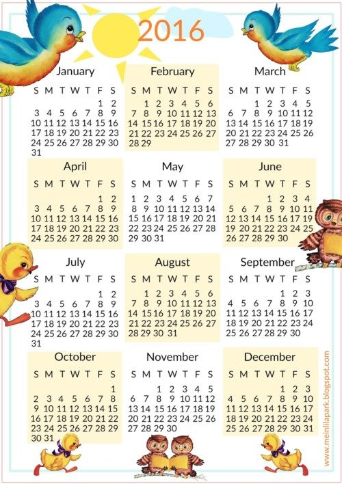 2016_calendar_kids