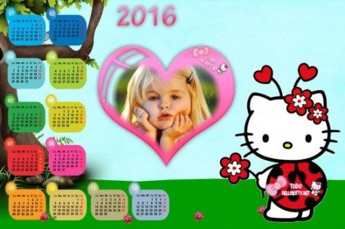 Calendario-2016-de-Hello-Kitty-para-personalizar-e1450373621387