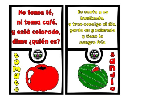Adivinazas para niños cortas, de frutas, animales y numeros