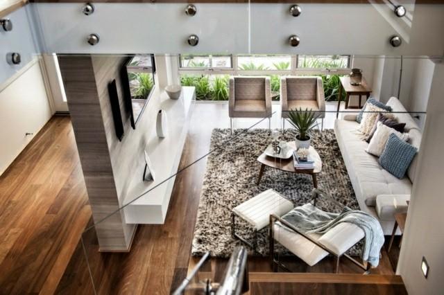 Decoraci n de interiores de casas modernas 60 im genes - Fotos de interiores de casas ...