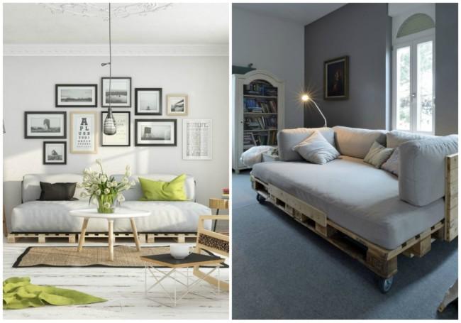 Im genes de muebles con palets sofas mesas camas ideas - Como hacer un sofa con palets ...