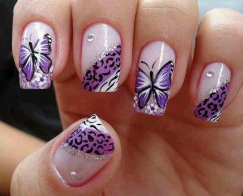 Diseños-de-Uñas-Mariposas-2