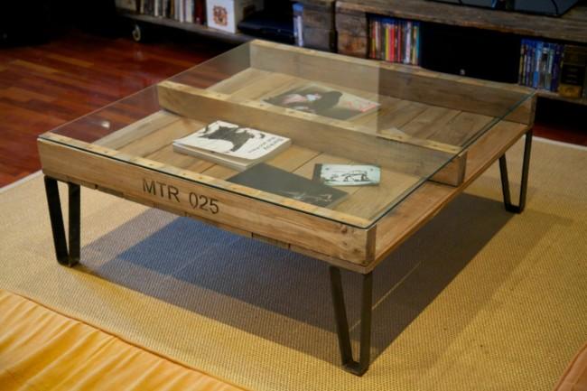 Im genes de muebles con palets sofas mesas camas ideas - Mesas de palet ...