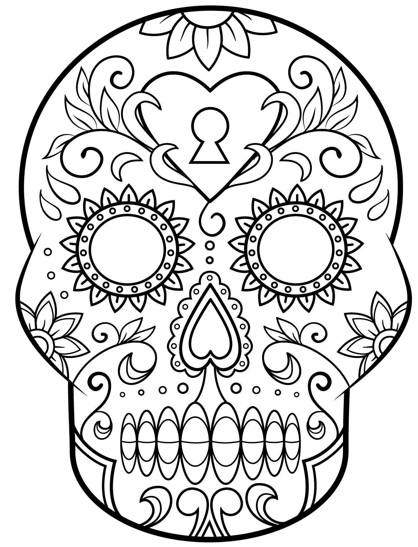 calaveras,mexicanas,para,colorear