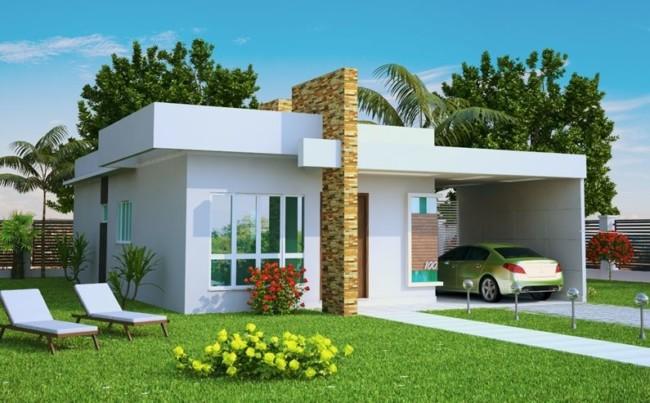 60 fachadas de casas modernas de un piso y dos pisos On modelos de casas medianas