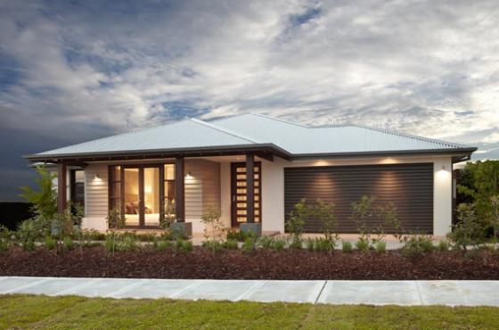 60 fachadas de casas modernas de un piso y dos pisos for Ver jardines de casas pequenas