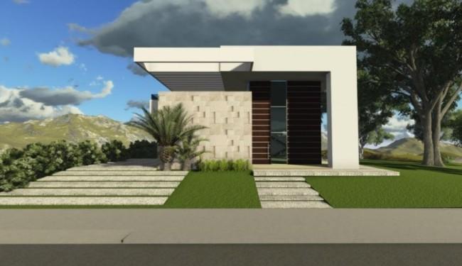 60 fachadas de casas modernas de un piso y dos pisos for Fachadas frontales de casas modernas