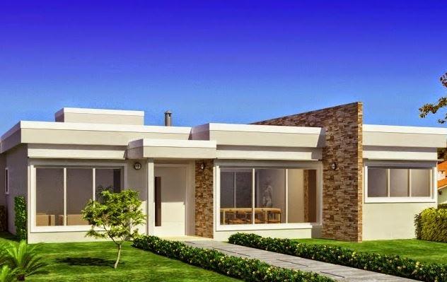 60 fachadas de casas modernas de un piso y dos pisos for Jazzghost casas modernas 9