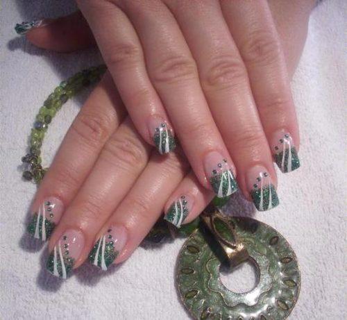 diseños-de-uñas-verdes-green-Nail-Art-Design-11