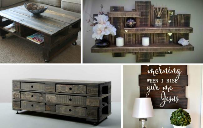 muebles para distintas partes del hogar, con tan sólo reciclar palets