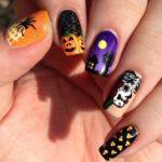Imágenes de uñas decoradas para Halloween y Día de los Muertos