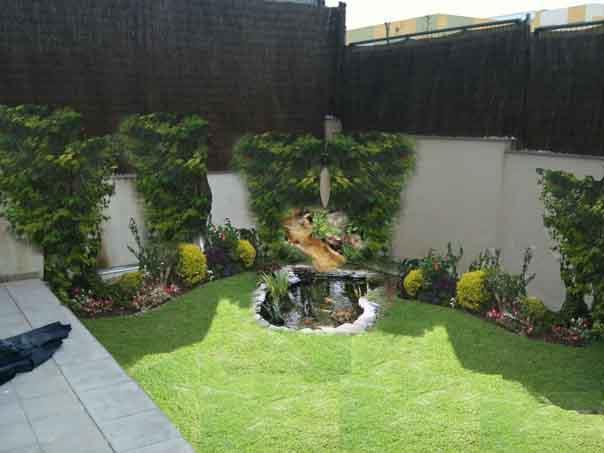 Dise o y decoracion de jardines modernos peque os o for Decoracion de patios y jardines fotos
