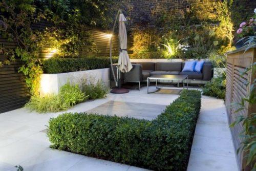diseno-de-jardines-modernos-sombrilla-cojines