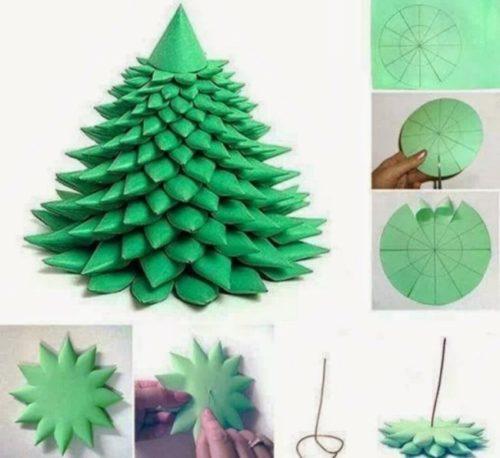 manualidades-navidad-decoracion-arbol-papel