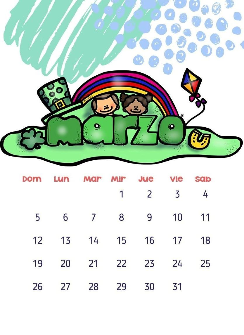 Calendarios 2017 para niños con dibujos para descargar e imprimir ...