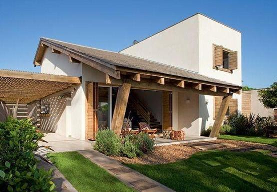 183 casas campestres modernas dise os interiores y - Tipos de tejados para casas ...
