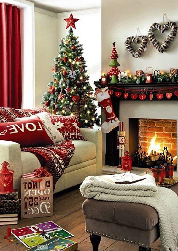 marque esta decoracin muy linda y moderna de navidad llene su casa con los colores blanco rojo y verde del rbol las medias y las coronas