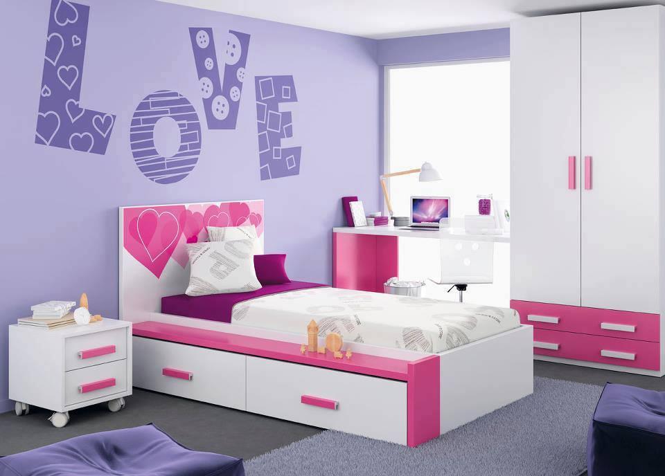 Decoraci n de cuartos para ni os ni as adolescentes y for Habitaciones para ninas adolescentes modernas