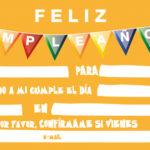 91 Invitaciones de cumpleaños para niños y niñas para imprimir